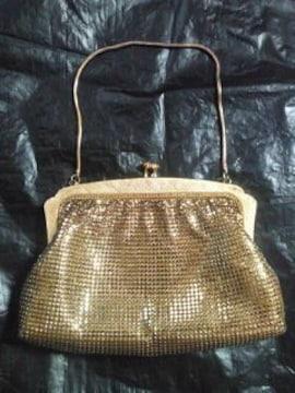 レディース パーティー バッグ BAG かばん 鞄 ポーチ がま口 財布 ゴールド 金