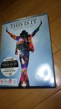 ★【DVD】マイケルジャクソン THIS IS IT 2枚組 豪華映像 新品★