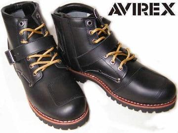 AVIREXアビレックス エンジニア ブーツTIGERバイカー2931黒us6