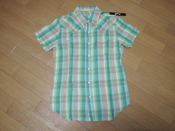 新品マーブルズMARBLESガーゼチェックシャツL半袖TMT