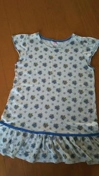 UNIQLO ユニクロ 150�p 半袖 Tシャツ 女の子 花柄  袖なし