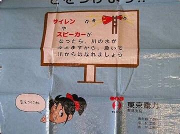[グッズ] 東京電力 でんこちゃんレジャーシート 群馬支店
