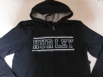 USA購入【Hurley】裏起毛ロゴプリントフルジップパーカーUS M
