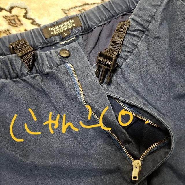 men'sショートパンツ★ハーフパンツ紺色★中古 < 男性ファッションの