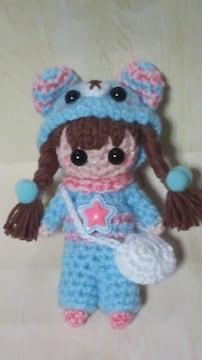 女の子編みぐるみストラップ