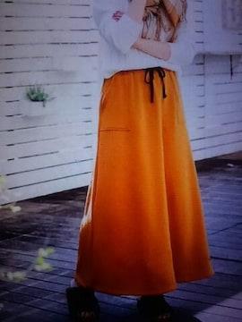 ●あったかマキシ スカート●新品キャメル