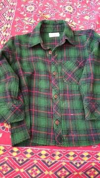 緑チェック★シャツ★アメカジ★size95