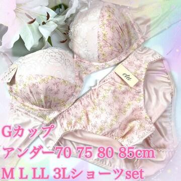 爆乳☆5点以上送料無料☆G80LL ベイビーピンク ブラ&ショーツ
