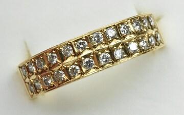 K18 ゴールド 合計 0.30ct ダイヤモンドリング 11.5号 指輪