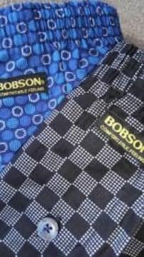 Mサイズ2枚組ブランド品BOBSON!高貴紳士的!前開きあり!ボタン付きトランクス