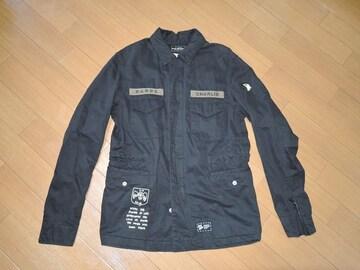 ラフアンドラゲッドROUGH AND RUGGEDシャツジャケット1黒刺繍