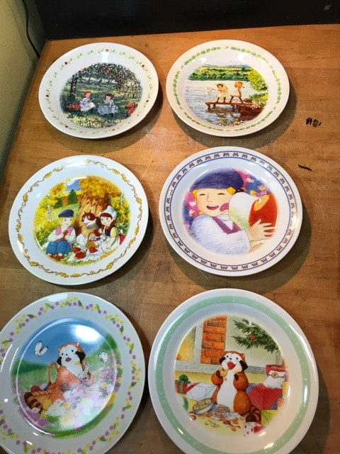 非売限定コレクション絵皿。赤毛のアン、ラスカル、フランダース  < インテリア/ライフの