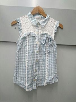 LIZ LISA☆ギンガムチェックノースリーブシャツ