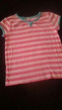 ピンクボーダーシャツ120#