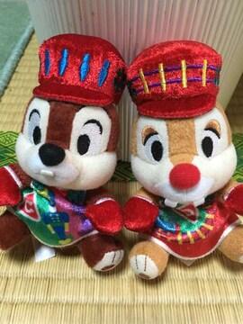 ☆チップ&デール☆ぬいぐるみバッジ☆2013年クリスマス☆