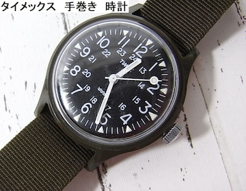 500スタ☆正規美品タイメックス 手巻き 腕時計