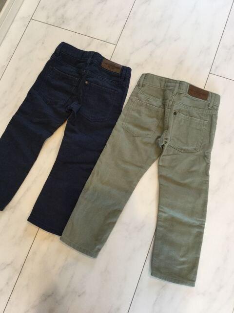 H&M パンツ 2枚セット 98cm エイチアンドエム アジャスター付き < ブランドの