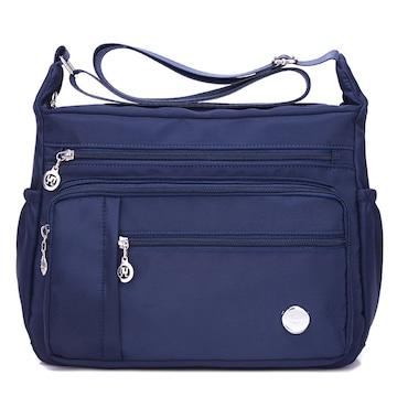 防水 斜めがけバッグ ナイロン 撥水加工 女性 青