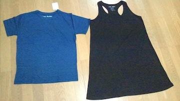 HEARTMARKET ハートマーケット 2点セット ロングタンクワンピース黒 クルーネック半袖Tシャツ