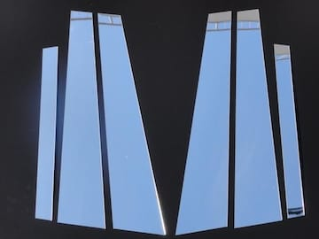 クロームメッキ超鏡面ピラーモールW124E220E280E300E320E400E500