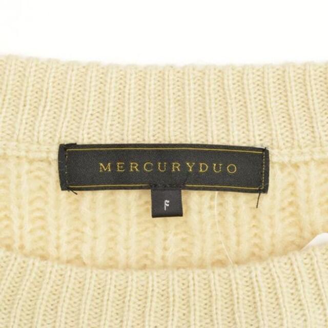 MERCURY DUO ケーブル切替バイカラーニット < ブランドの