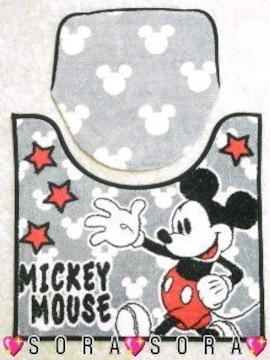【ミッキー】可愛いトイレマット&カバー洋式2点セット�@