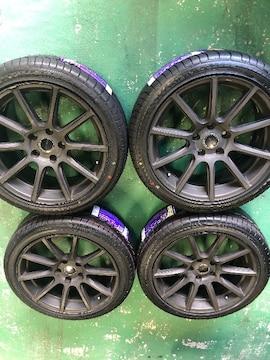 6081233)艶消グレ-アルミホイ-ル新品タイヤ4本セットBMW225/45ZR18送料無料