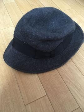 ローリーズファーム・ダークグレー系ハット帽