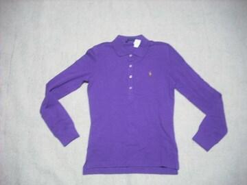 女 5 ラルフローレン 紫 ポロシャツ S