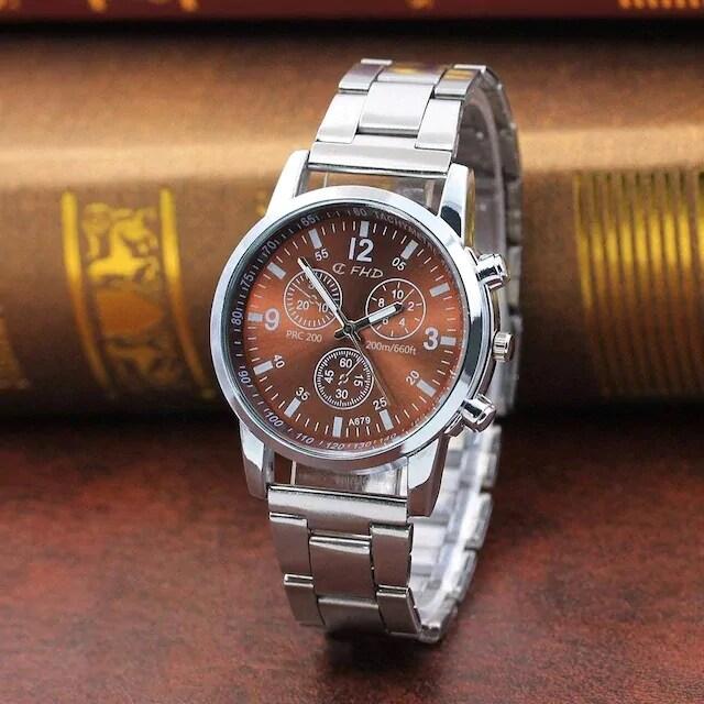 今回限りお試し価格★高級感ありお洒落なブラウン腕時計  < 男性アクセサリー/時計の