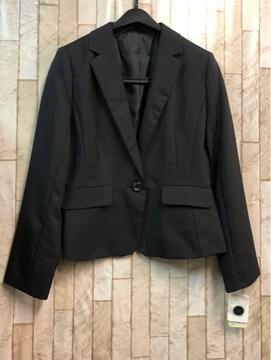 新品☆11号シンプルな黒無地テーラードジャケット☆s882