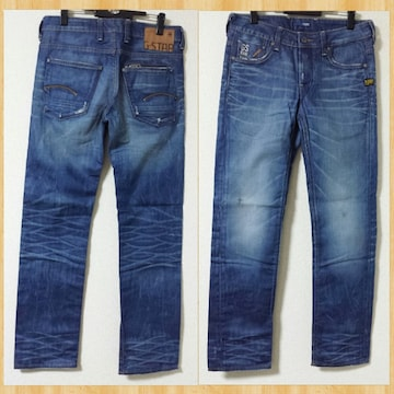 G-STAR RAW ジースター Attacc Low Straight 30 デニムパンツ