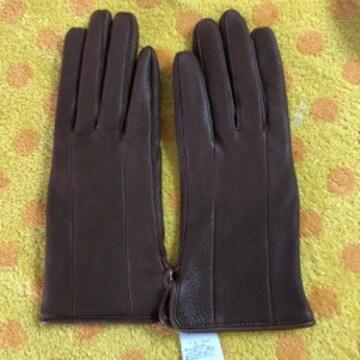 サンエース 鹿革手袋 ブラウンMサイズ