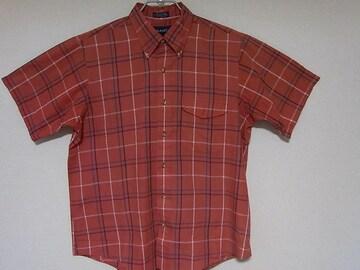 即決USA古着●GANT鮮やかチェックデザイン半袖シャツ!アメカジビンテージ