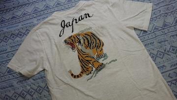 美品#刺繍#虎#Tシャツ#L