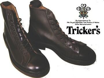 トリッカーズ英国製モンキー ブーツM6087ダークブラウンUK7