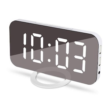 目覚まし時計 置き時計 掛け時計 大型 白