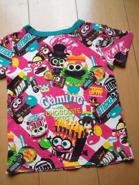 中古シークレットTシャツ110ピンクJAM < ブランドの
