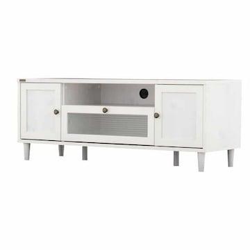 ローボード テレビ台(120cm幅) ホワイト PW46-120L_WH