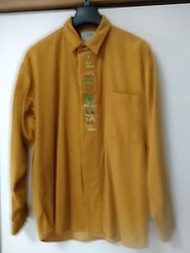 Lサイズ コーデュロイ刺繍入りシャツ レタパ520