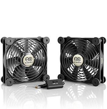 AC Infinity MULTIFAN S7 静音 2台1組 120mm USB Fan 冷却ファン