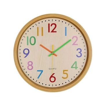 壁掛け時計 ウオールクロック サイレント カラフルアラビア数