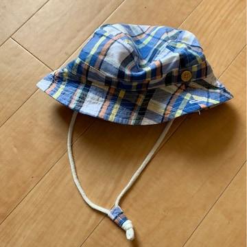 44センチ!チェック帽子美品