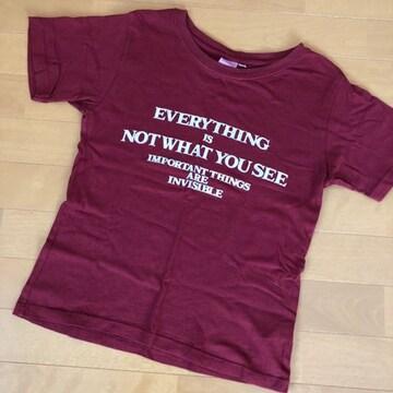 マウジー moussy Tシャツ 半袖 ヴィンテージ風 赤