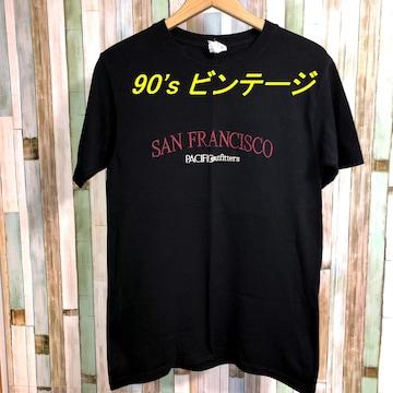 90's 胸刺繍Tシャツ