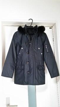 未使用 ラストシーン フォックスファー付き中綿コート モッズコート ラインストーンボタン M
