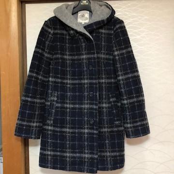 エニイファム コート黒チェック らくらく便800円