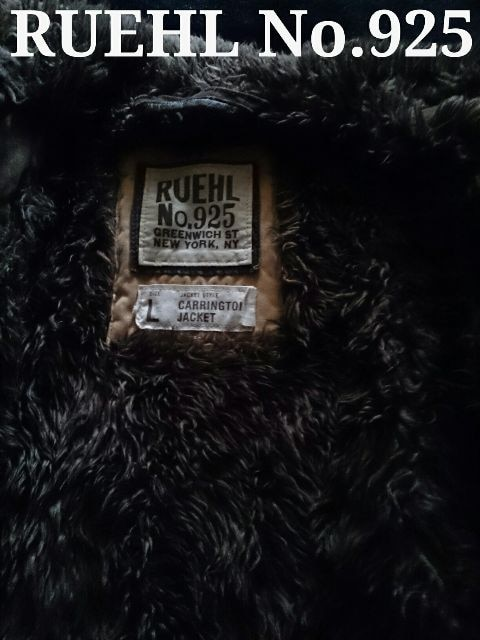 【RUEHL No.925】最高峰 Vintage 総ボア ミリタリージャケット L/Olive < ブランドの