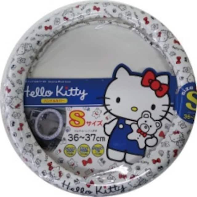 【キティ】ニオイがしにくいTPEチューブ 軽.コンパクトカーに♪ハンドルカバー < 自動車/バイク
