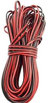 LitaElek 20m 2ピン22ゲージAWGフレキシブル電線延長ケーブルSM